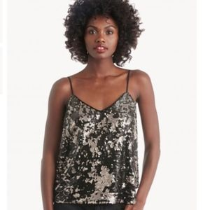 NWT 1.State Ombre Sequin Moody Hues cami top Small